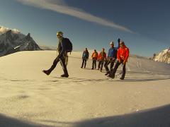 Bergsteiger auf Gletschertour