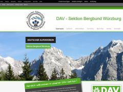 Screenshot Bergbund Homepage